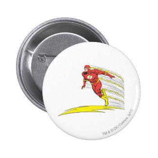 Flash Leaps Left 6 Cm Round Badge