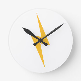 Flash lightning bolt round clock