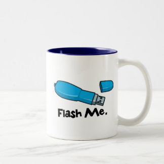 flash me flash drive design Two-Tone coffee mug