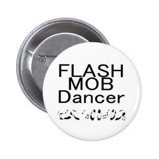 Flash Mob Dancer Dancing Feet Pinback Button