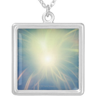 Flash of Light 2 Silver Plated Necklace