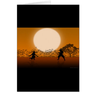 Flash of the Blades Greeting Card