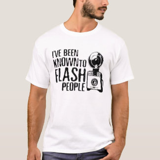 Flash People Funny Photographer Shirt
