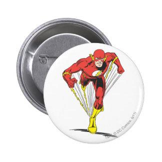 Flash Runs Forward 6 Cm Round Badge