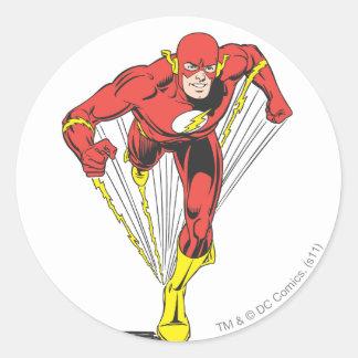 Flash Runs Forward Classic Round Sticker