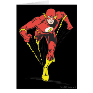 Flash Runs Forward Greeting Card