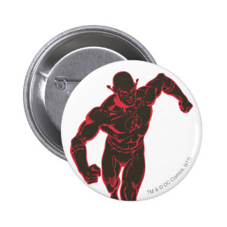 Flash Showtime Red/Black 6 Cm Round Badge