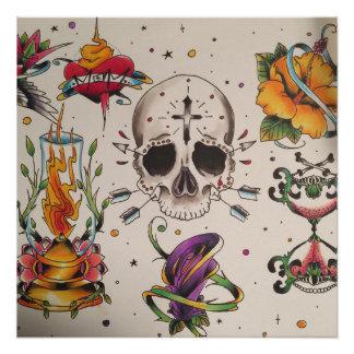 flash tattoo poster