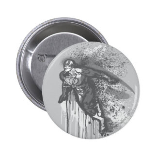 Flash - Twisted Innocence Poster BW 6 Cm Round Badge