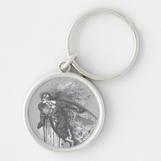 Flash - Twisted Innocence Poster BW Silver-Colored Round Key Ring