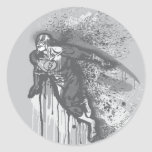 Flash - Twisted Innocence Poster BW Classic Round Sticker