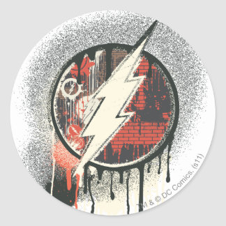 Flash - Twisted Innocence Symbol Classic Round Sticker