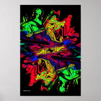 Flashback Modern Abstract Art Poster