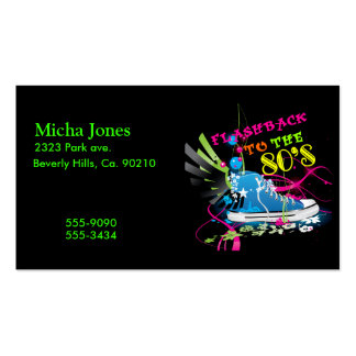 Flashback To The 80 s Neon Sneaker Business Cards
