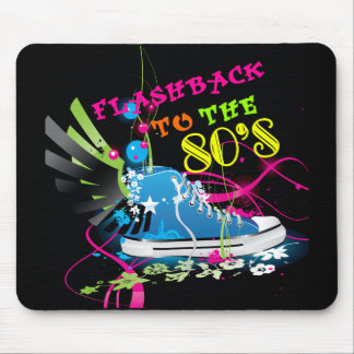 Flashback To The 80's Neon Sneaker Mousepad
