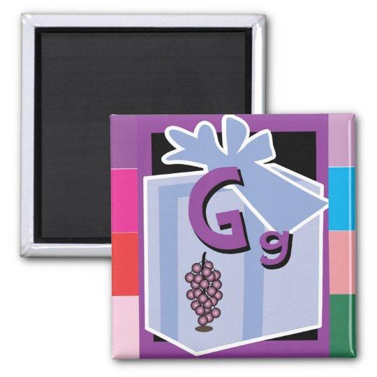 FlashCardG Square Magnet