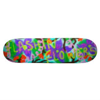 Flashin' Flowers Graffiti Skateboard Deck