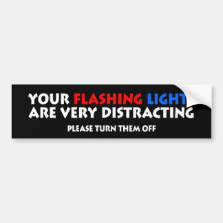 Flashing Lights Police Cops Highway Patrol Bumper Sticker