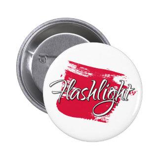 Flashlight 6 Cm Round Badge