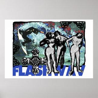 Flashwav Sideways Posters