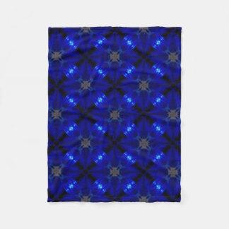 Flashy blue tiles fleece blanket