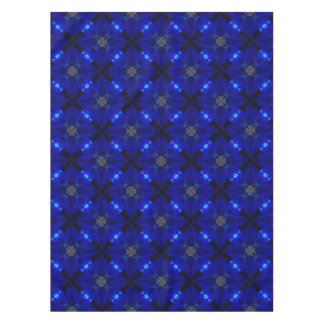 Flashy blue tiles tablecloth