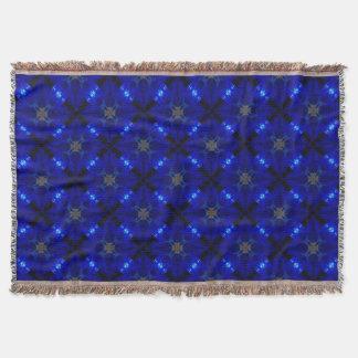 Flashy blue tiles throw blanket