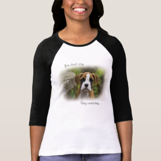 Flashy Fawn Boxer Puppy Dog Raglan T-Shirt