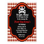 Flashy Pirate Birthday Party Invitation - Red