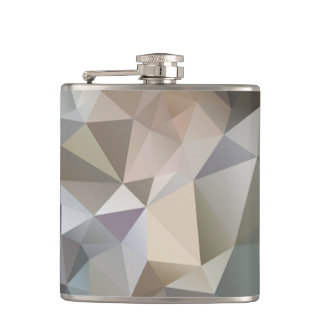 Flask: Pastels & Greys Polygon Design Hip Flask