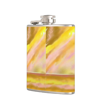 Flask with Sun Lake Abstract Art