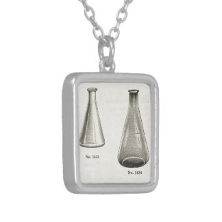Flasks Silver Plated Necklace
