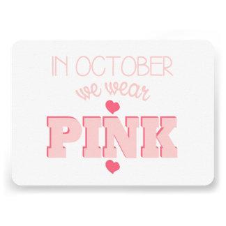 Flat Breast Cancer Awareness Card