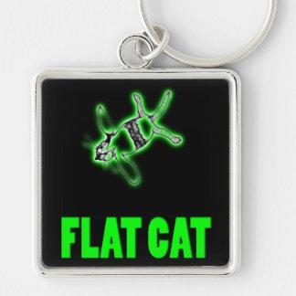 flat cat keychain
