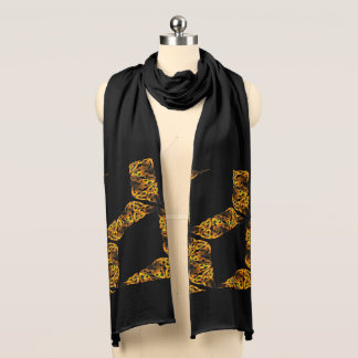 Flat, Celtic knot, goldfarben Scarf