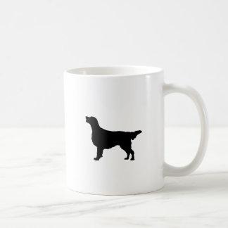 Flat Coated Retreiver Hunting dog Silhouette Mugs