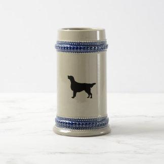 Flat Coated Retreiver Hunting dog Silhouette Coffee Mugs