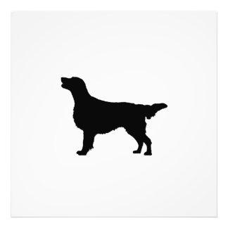 Flat Coated Retreiver Hunting dog Silhouette Art Photo