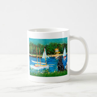 Flat Coated Retriever 1 - Sailboats Coffee Mug