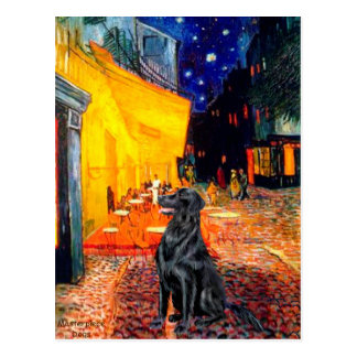 Flat Coated Retriever 1 - Terrace Cafe Postcard