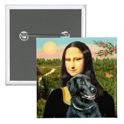 Flat Coated Retriever 2 - Mona Lisa Pin