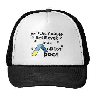 Flat Coated Retriever Agility Dog Trucker Hat