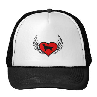 Flat-Coated Retriever Angel Heart Dog Silhouette Cap