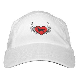 Flat-Coated Retriever Angel Heart Dog Silhouette Hat