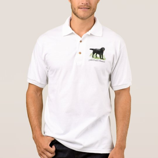 Flat-Coated Retriever Art Gifts Polo Shirt