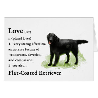 Flat-Coated Retriever Art Print Card