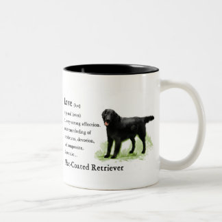 Flat-Coated Retriever Art Print Two-Tone Coffee Mug