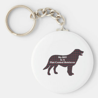 Flat-Coated Retriever BFF Gifts Basic Round Button Key Ring