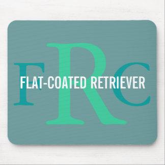 Flat-Coated Retriever Breed Monogram Mouse Mat