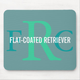 Flat-Coated Retriever Breed Monogram Mouse Pad